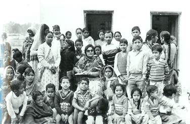 Ammaji, staff and kids in the early days of KHEL