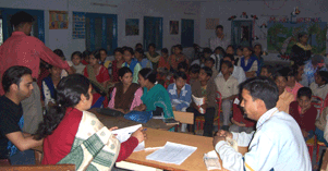 Scholarship students meet with KHEL staff  on a regular basis