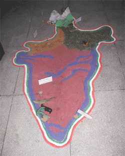 Student art project depicting India