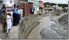 Wall Broken by Rispana River Flood