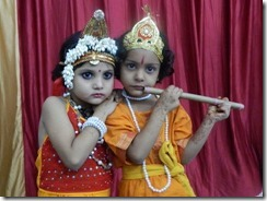 Teacher program 1 LDA Kids as Krishna and Radha